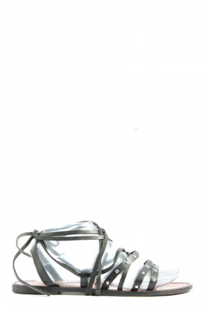 Pull & Bear Riemchen-Sandalen schwarz Casual-Look