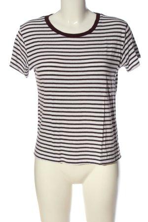 Pull & Bear Stripe Shirt black-white striped pattern casual look