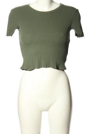 Pull & Bear T-shirt court kaki style décontracté