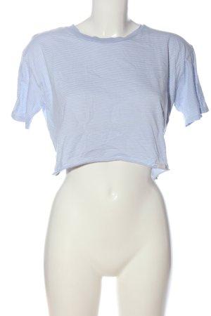 Pull & Bear Ringelshirt blau Streifenmuster Casual-Look