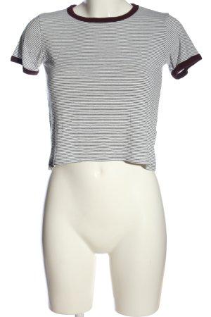 Pull & Bear Stripe Shirt white-black striped pattern casual look