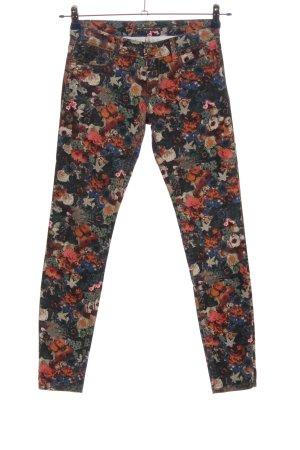 Pull & Bear Pantalon cigarette motif de fleur style décontracté