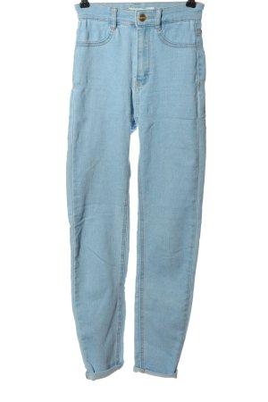 Pull & Bear Jeansy rurki niebieski W stylu casual