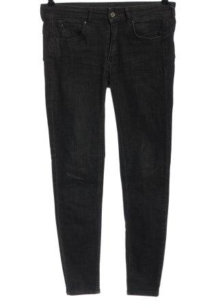 Pull & Bear Jeans a sigaretta nero stile casual
