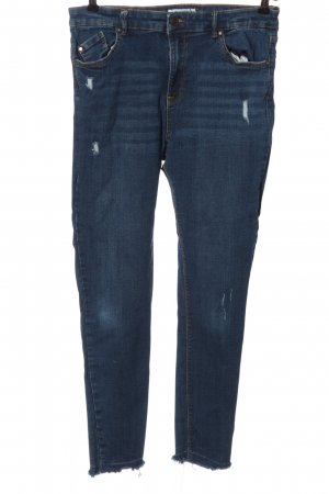 Pull & Bear Jeans cigarette bleu style décontracté