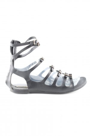 Pull & Bear Roman Sandals black casual look