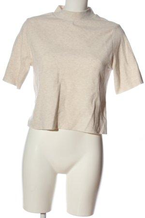 Pull & Bear Koszulka z golfem kremowy Melanżowy W stylu casual