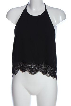 Pull & Bear Rugloze top zwart elegant