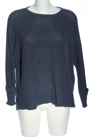 Pull & Bear Rundhalspullover blau Casual-Look