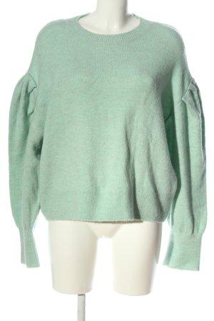 Pull & Bear Jersey de cuello redondo verde moteado look casual
