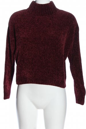 Pull & Bear Strickpullover rot meliert Casual-Look