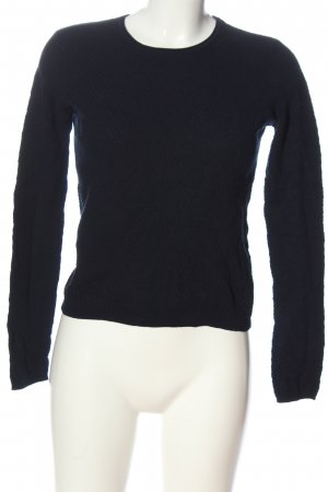Pull & Bear Rundhalspullover schwarz Casual-Look