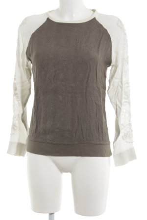 Pull & Bear Rundhalspullover bronzefarben-wollweiß Casual-Look