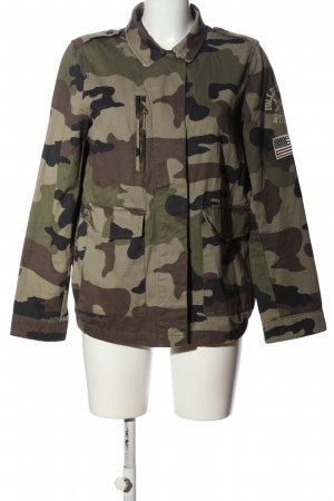 Pull & Bear Safari Jacket khaki-brown camouflage pattern casual look