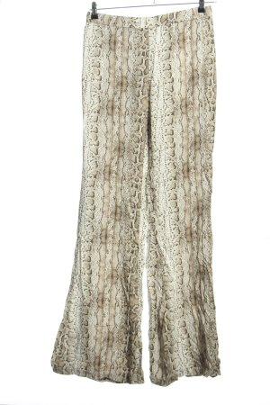 Pull & Bear Pantalon pattes d'éléphant blanc cassé imprimé allover