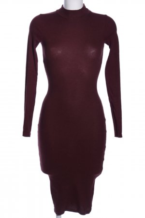 Pull & Bear Tube Dress red casual look