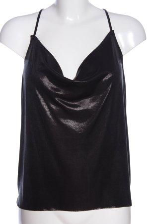 Pull & Bear Schlupf-Bluse schwarz Elegant