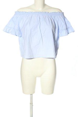 Pull & Bear Schlupf-Bluse blau Casual-Look