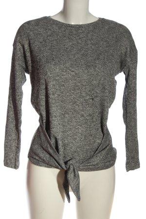 Pull & Bear Blusa caída gris claro moteado look casual