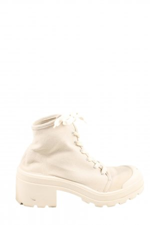 Pull & Bear Schnürsneaker creme Casual-Look
