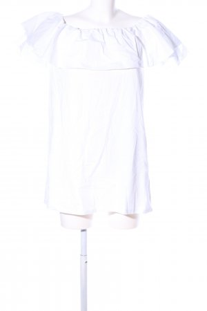 Pull & Bear schulterfreies Kleid weiß Elegant