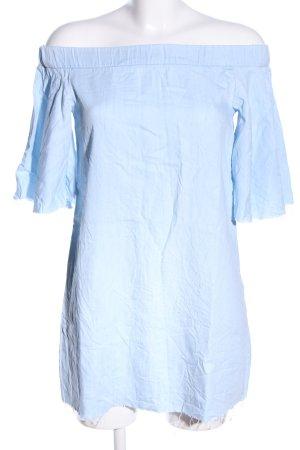 Pull & Bear schulterfreies Top blau Casual-Look
