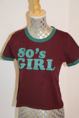 "Pull & bear Shirt Gr.S ""80's Girl"""