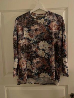 Pull & Bear Shirt rosa Longsleeve  Blumen