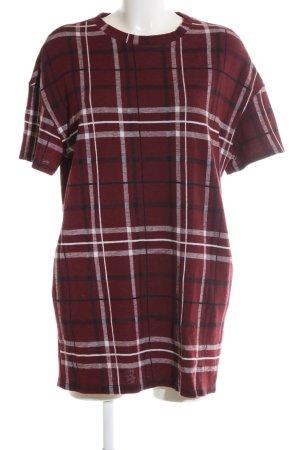 Pull & Bear Robe t-shirt motif à carreaux style décontracté