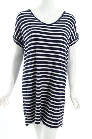 Pull & Bear Shirtkleid dunkelblau-weiß Ringelmuster Casual-Look