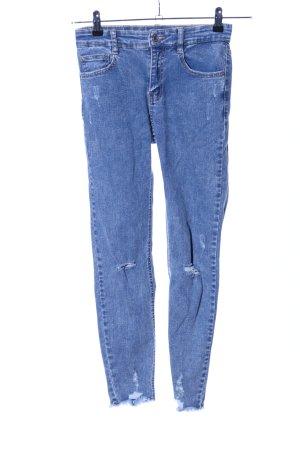 Pull & Bear Skinny Jeans blau schlichter Stil