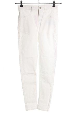 Pull & Bear Skinny Jeans weiß Casual-Look