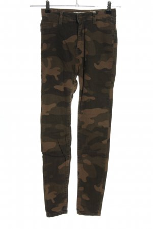 Pull & Bear Skinny Jeans Camouflagemuster Casual-Look