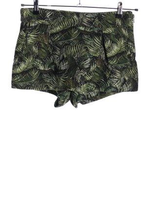 Pull & Bear Skorts grün-schwarz Allover-Druck Casual-Look