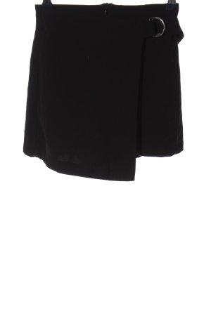 Pull & Bear Skort noir-argenté style d'affaires
