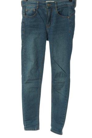 Pull & Bear Slim Jeans blau Casual-Look
