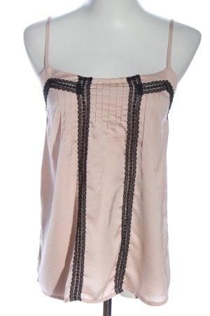 Pull & Bear Spaghettibandtopje roze-zwart elegant