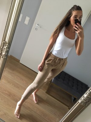 Pull&Bear Stoff Hose Beige S