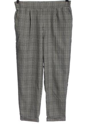 Pull & Bear Jersey Pants black-white allover print elegant