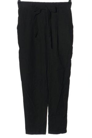 Pull & Bear Stoffhose schwarz Casual-Look