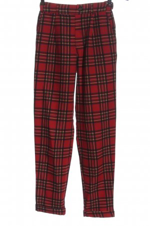 Pull & Bear Jersey Pants red-black allover print casual look