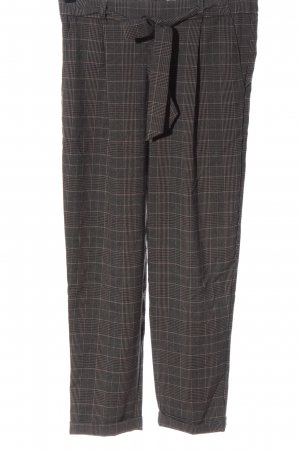 Pull & Bear Jersey Pants brown-cream check pattern business style