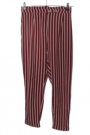 Pull & Bear Jersey Pants red-white striped pattern casual look