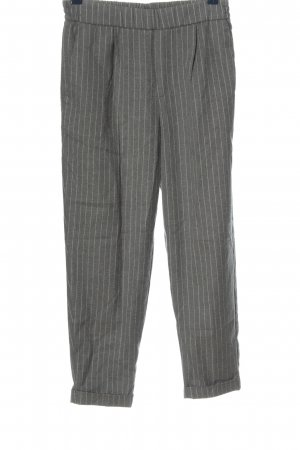 Pull & Bear Pantalon en jersey gris clair motif rayé style d'affaires