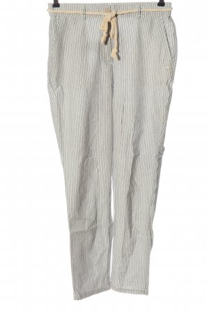 Pull & Bear Jersey Pants light grey-white allover print casual look