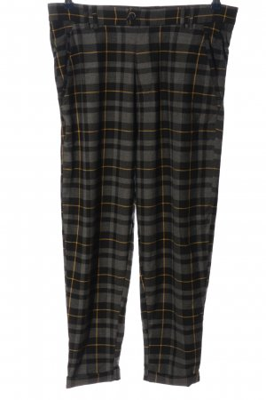 Pull & Bear Jersey Pants light grey-black check pattern casual look
