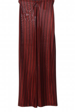 Pull & Bear Jersey Pants red-black striped pattern casual look