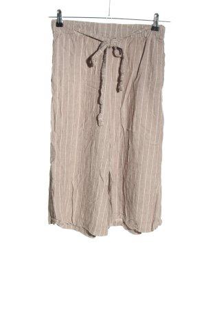 Pull & Bear Stoffhose wollweiß-weiß Streifenmuster Casual-Look