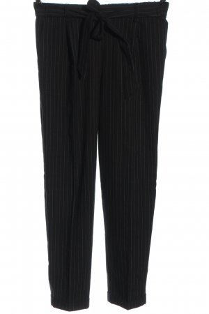 Pull & Bear Stoffhose schwarz-weiß Allover-Druck Casual-Look