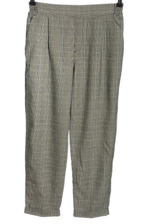 Pull & Bear Stoffhose khaki-weiß Streifenmuster Casual-Look